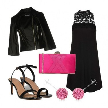 Outfit Black+Pink=Glam!
