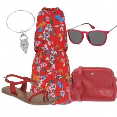 Outfit Mattina in rosso