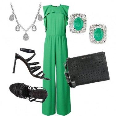 Outfit Jumpsuit verde
