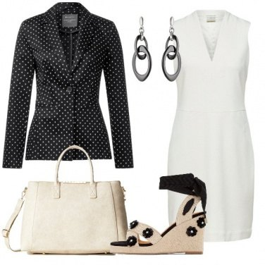 Outfit Giacca a pois in ufficio
