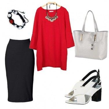 Outfit La blusa rossa