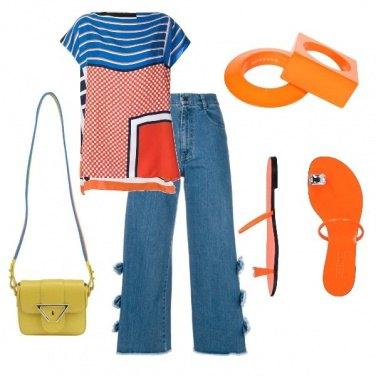 Outfit Il jeans coi fiocchi