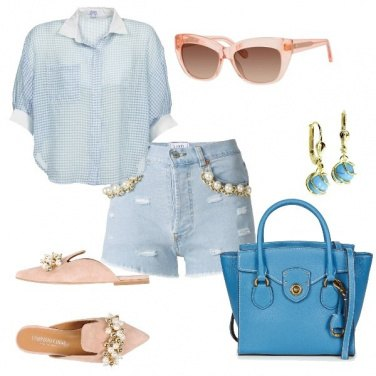 Outfit Shorts e perle
