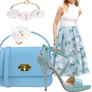 Outfit Blue flower
