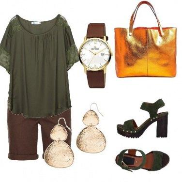 Outfit Pantaloncini marroni