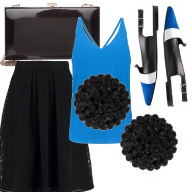 Outfit Nero-blu