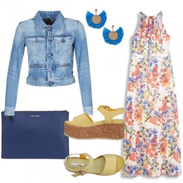 Outfit Tofly_abito lungo floreale