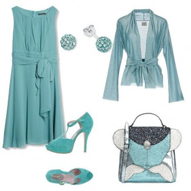 Outfit Cerimonia in tiffany