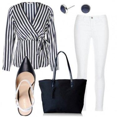 Outfit La blusa a righe