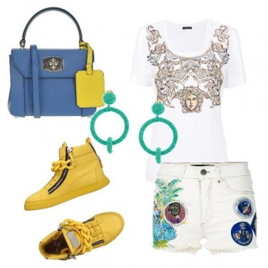 Outfit Shorts e sneakers alte