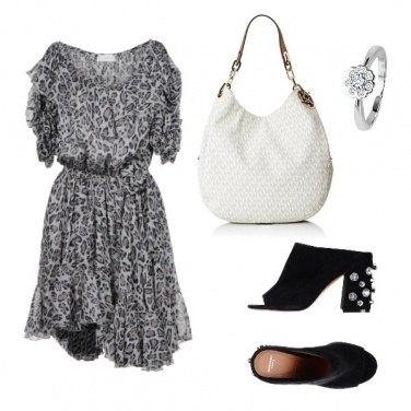 Outfit Bianco e nero maculato