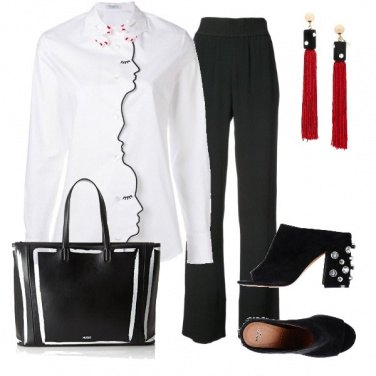 Outfit La camicia bianca