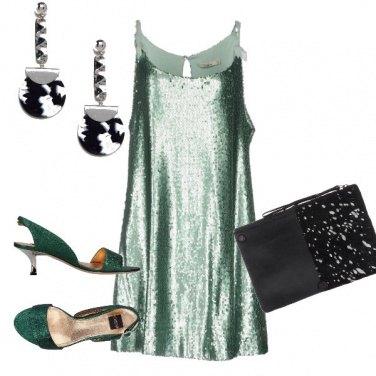 Outfit Verde di sera...
