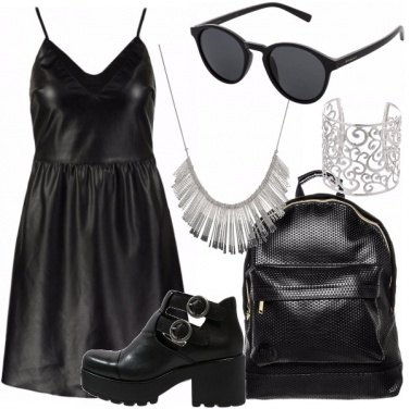 Outfit Black Day in the City.