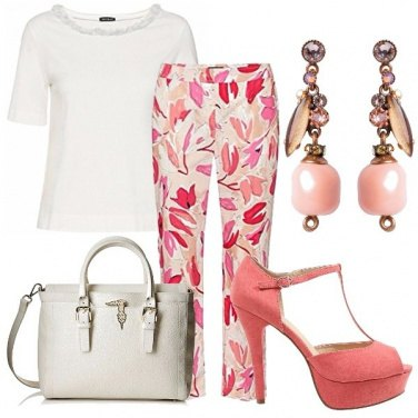 Outfit Pink & white