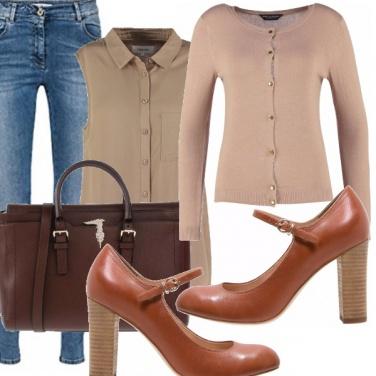 Outfit Bon ton, denim workwear