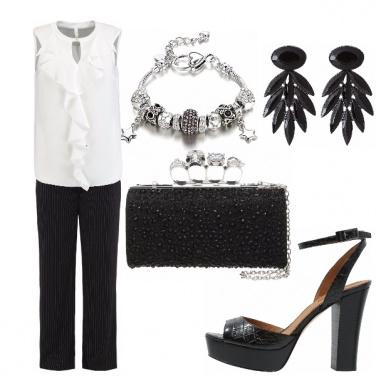 Outfit Elegante bianco & nero