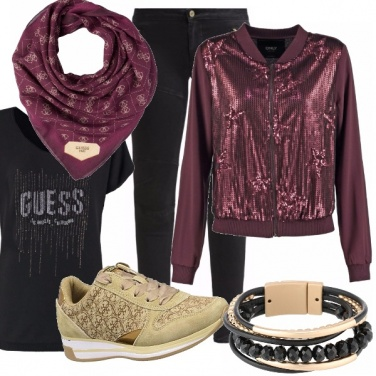 Outfit Guess protagonista