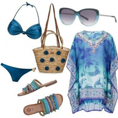 Outfit Blu come il mare