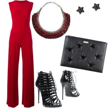 Outfit Decisa in rosso