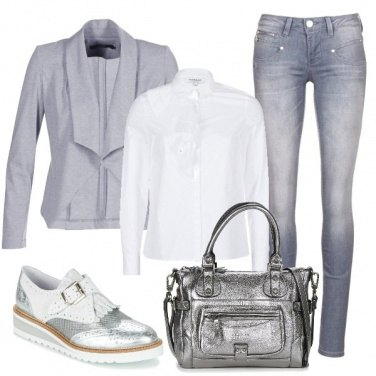 Outfit Sfumature silver