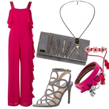 Outfit Jumpsuit Magenta
