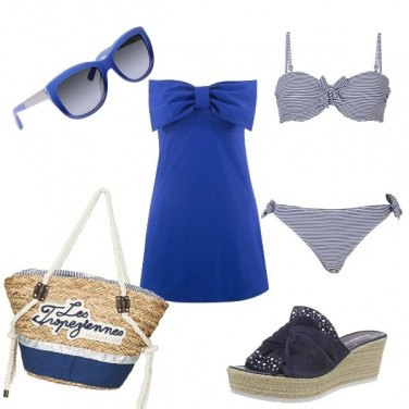 Outfit Spiaggia in blu