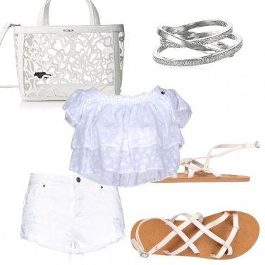 Outfit Bianco delicato