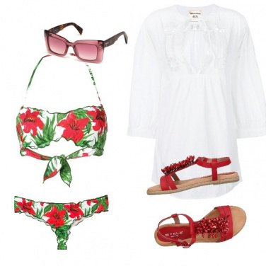 Outfit Flowers and sea