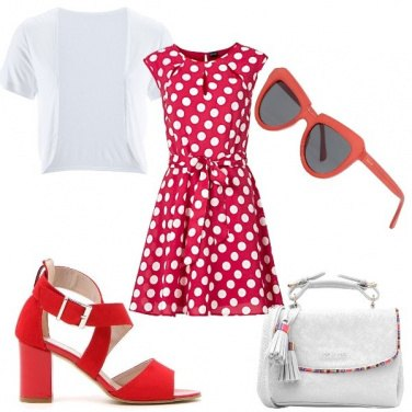 Outfit Pois rossi