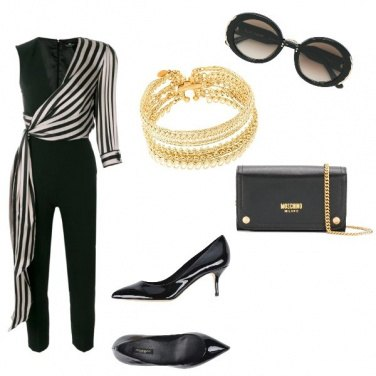Outfit Black gold