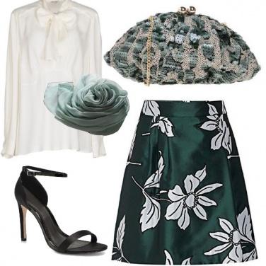 Outfit Elegante in verde