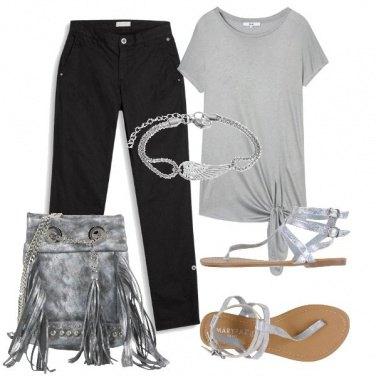 Outfit Frange alla borsa