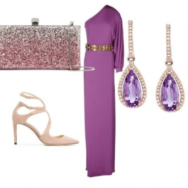 Outfit Cerimonia in viola