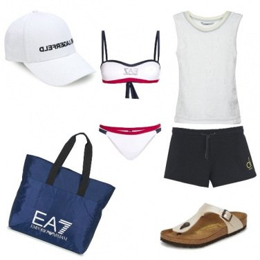 Outfit Sportiva in spiaggia