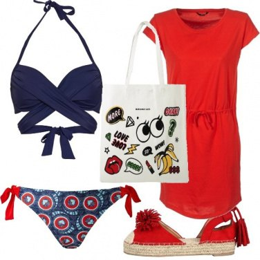 Outfit Red to the sea