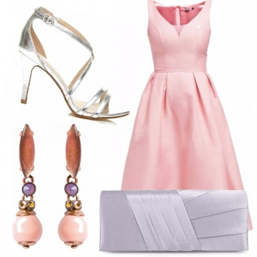 Outfit Cerimonia argento e rosa!