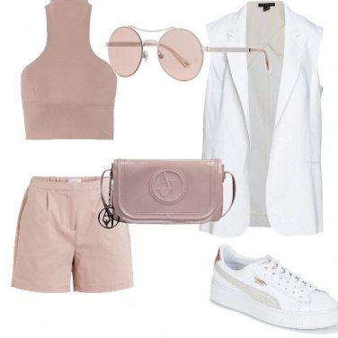 Outfit Soft pink sportivo