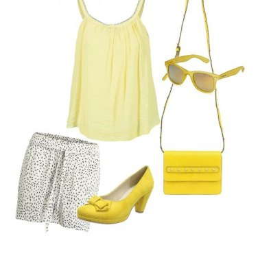Outfit Le tonalità del giallo