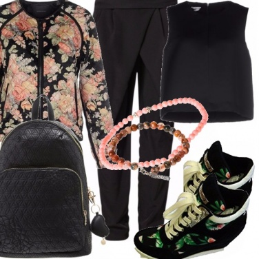 Outfit Accenni folk in sneakers