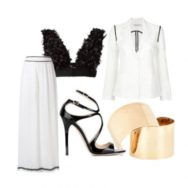 Outfit Top Piume