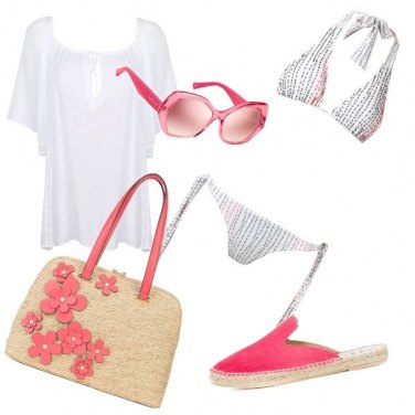 Outfit Rosa anche in spiaggia