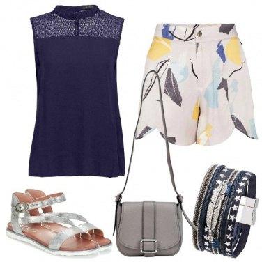 Outfit Blu e grigi