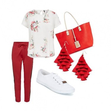 Outfit Red and white
