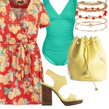 Outfit Sole, mare e curve