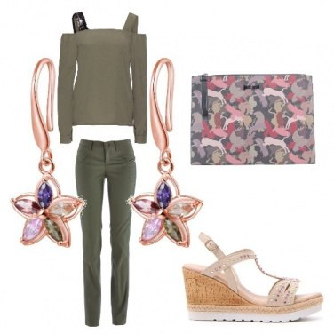 Outfit Green in the city