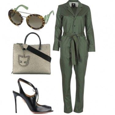 Outfit Jumpsuit e tacco alto