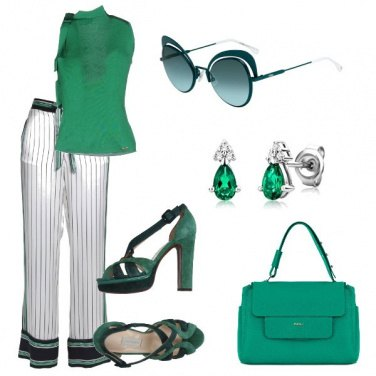 Outfit Verde sempre