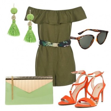Outfit Playsuit verde