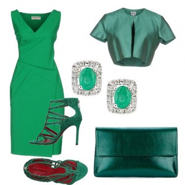 Outfit Verde chic